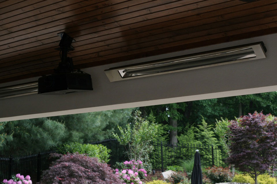 heating and air wiring for outdoor entertainment center in a homes backyard