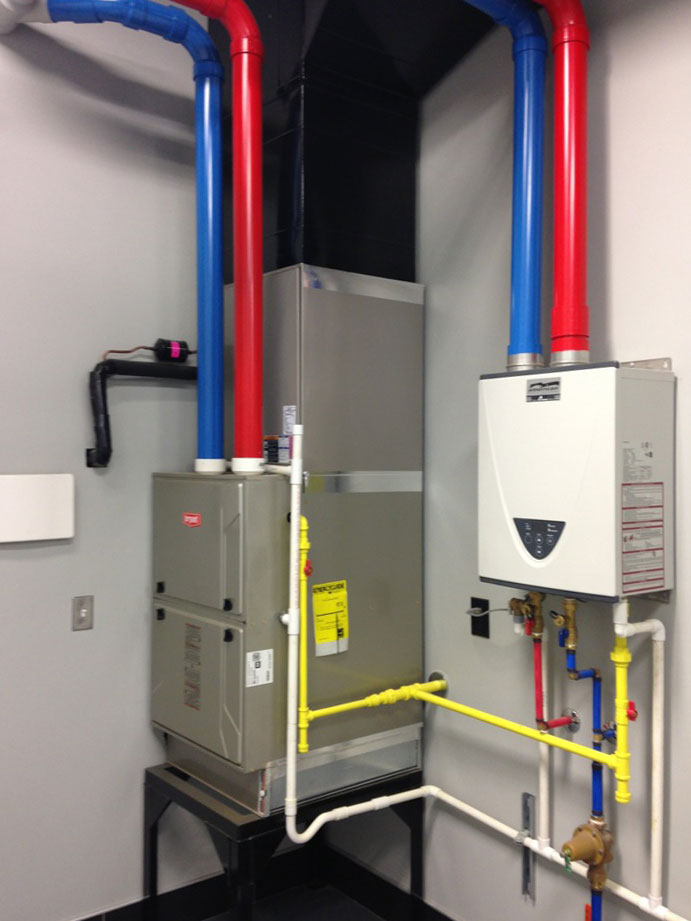 HVAC system installation showing the impressive product once completed